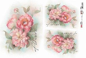 Papel Decoupage 30x45 cm OPAPEL 2400 - Flowers