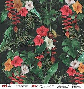 Papel Para Scrapbook Opadecor 30,5x30,5 - Tropical 3 2659