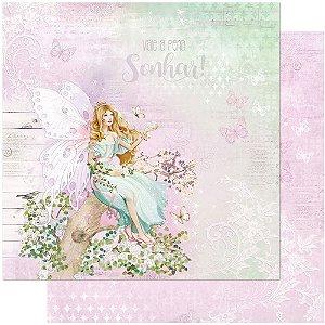 Papel Para Scrapbook 30,5 Cm X 30,5 Cm - FADAS ADULTAS SD-1024