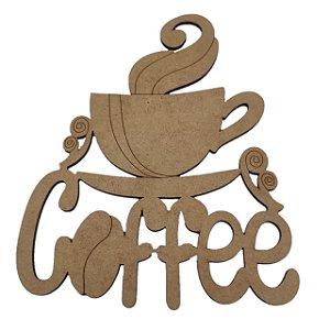 Aplique Laser MDF -  Xícara Coffee 30cm