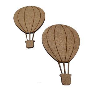 Aplique Laser MDF -  Balão Com 2 Unidades - 10cm