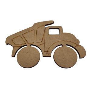 Aplique Laser MDF -  Caminhão De Areia - 10cm
