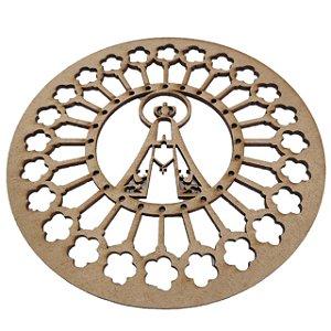 Aplique Laser MDF - Mandala Nossa Senhora Aparecida - 15cm