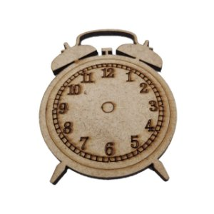 Aplique Laser MDF - Aplique Relógio - 7 cm