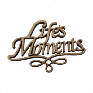 Aplique Laser MDF - Life Moments - 7 cm