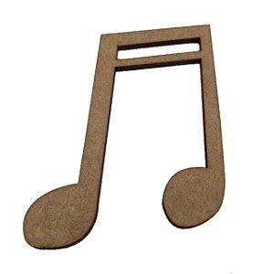 Aplique Laser MDF - Nota musical Modelo 2 - 10cm