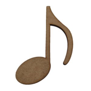 Aplique Laser MDF - Nota Musical - 10cm