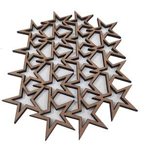 Aplique Laser MDF - Colmeia Estrela