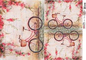 Papel Decoupage 30x45 cm OPAPEL 2521 - Bicicleta