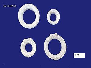Aplique em Resina Kit Mini Moldura Oval 4 Peças 3/2 cm - 371