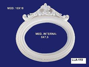Aplique em Resina Moldura Oval Trabalhada 10x10cm - LLA 119