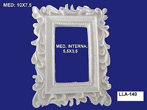 Aplique em Resina Moldura Retangular Trab 10X7cm - LLA 149