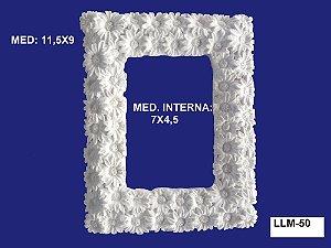 Aplique em Resina Moldura Retangular Florida 11X9cm - LLM 50