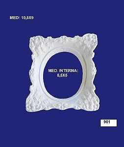 Aplique em Resina Moldura Quadrado P 10,5x9 cm - 901