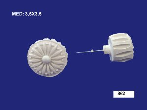 Aplique em Resina Puxador Dimensional 3 cm - 862