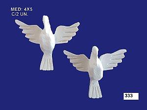 Aplique em Resina Divino Espirito Santo Mini 2 Peças 4cm 333