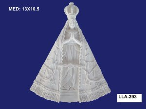 Aplique em Resina Nossa Senhora 13x10,5 cm - LLA 293