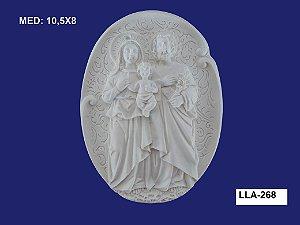 Aplique em Resina Sagrada família Na Placa 10x8 cm - LLA 268