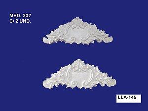 Aplique em Resina Cantoneira Arabesco 3x7 cm - LLA 145