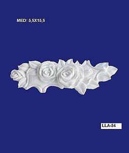 Aplique em Resina Rosas 15,5x5,5 cm - LLA 54