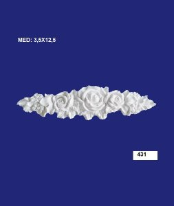 Aplique em Resina Rosa Fina 12cm - 431