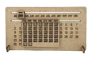 Calendário MDF Com Base Para Mesa 22x12 cm