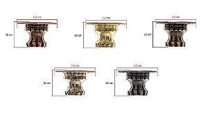 Pezinho De Metal Modelo Grego 4 Unidades