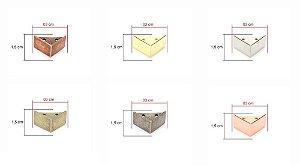 Pezinho De Metal Modelo Quadrado 4 Unidades