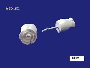 Aplique em Resina Puxador Botão de Rosa M 2x2cm - 814 M