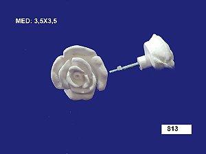 Aplique em Resina Puxador Rosa M 3,5x3,5 - 813