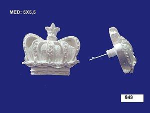 Aplique em Resina Puxador Coroa 5x5,5 cm - 849