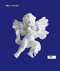 Aplique em Resina Anjo Com Violino 10,5x12 cm - 444