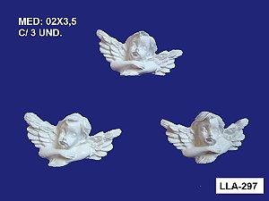 Aplique em Resina Kit Com 3 Anjos 2x3,5 cm - LLA 297