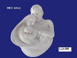 Aplique em Resina Sagrada Família 5x5x4 cm - LLA 206