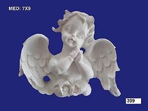Aplique em Resina Anjo Com Mão No Rosto 5,5x7 cm - 399
