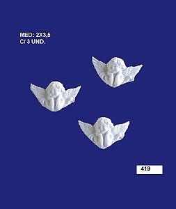 Aplique em Resina Trio Anjo Com Mão No Queixo 3,5x2 cm - 419