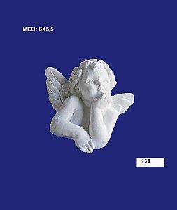 Aplique em Resina Anjo Com Mão No Queixo M 5,5x5,5 cm - 138