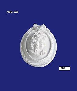 Aplique em Resina Moldura Camafeu 7x5 cm - 086