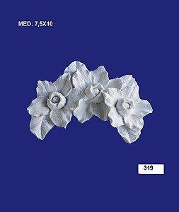 Aplique em Resina Cantoneira Flor De Maio 7,5x10 cm - 319