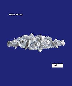 Aplique em Resina Rosa 12x3,5 cm - 278