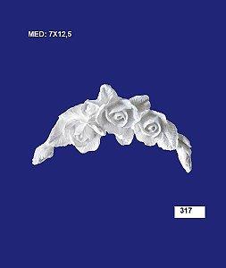 Aplique em Resina Cantoneira De Rosa 5,5x11,5 cm - 317