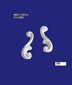 Aplique em Resina Arabesco Médio 5,5x1,5 cm - 328