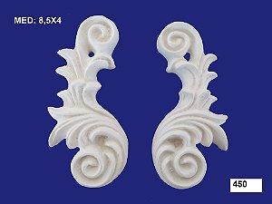 Aplique em Resina Arabesco Italiano G 8,5x4 cm - 450