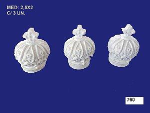 Aplique em Resina Coroinha 2,5x2 cm  - 760