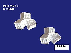 Aplique em Resina Dado 2 Unidades 2,5x3cm - LLA 314