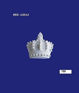 Aplique em Resina Coroa Pequenina 4,5x4,5cm - 795