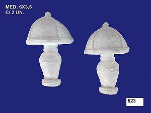 Aplique em Resina Abajur 2 Unidades 6x3,5 cm - 523