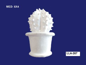 Aplique em Resina Vaso Cacto 6x4 cm - LLA 267