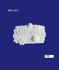Aplique em Resina Placa Welcome 5,5x7 cm - 180