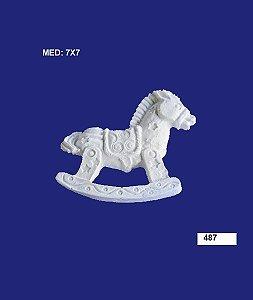 Aplique em Resina Cavalo de Balanço 7x7 cm - 487